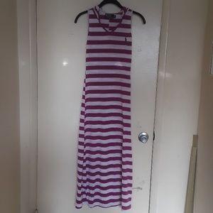 Polo maxi dress with hood.